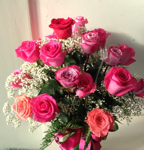 Valentine Rose Arrangement 2016