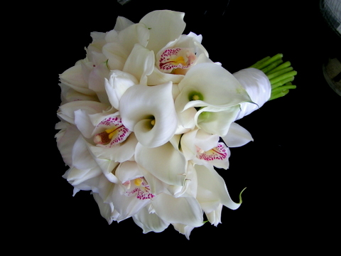 Simple Orchid Wedding Bouquet